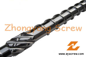 PE Film Extrusion Screw Barrel Plastic Extruder Screw Barrel pictures & photos
