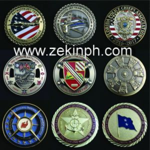 Hot Sale Metal Satin Challenge Coin with Rhinestones pictures & photos