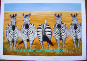 Oil Painting, Horse Oil Painting, Zebra Oil Painting