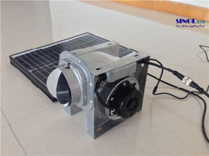 30W Solar Powered Centrifugal Pipeline Air Blower  for Ceiling with 30W 9.6ah Built-in Lithium Battery - 24 Hours Nonstop Working (SN2016027) pictures & photos