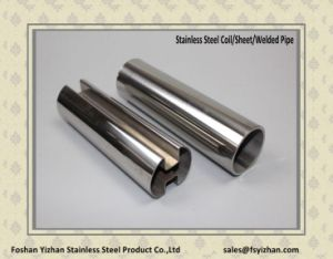 304 Square Welded Stainless Steel Slot Pipe for Glass Fence pictures & photos