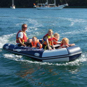 Liya PVC Cheap Inflatable Rubber Boat with Motor for Sale pictures & photos
