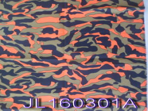 Orange Fire Style Polyester Cotton Rip-Stop Camouflage Fabric pictures & photos