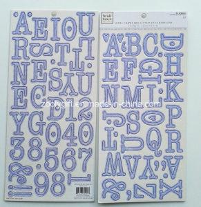 Alpha Chipboard Letters Sticker En Carton Gris pictures & photos
