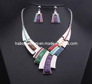 Square Stone Jewelry Set/Fashion Necklace Set (XJW13204) pictures & photos