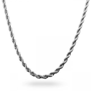 4mm Mens Stainless Steel Rope Chain Necklace pictures & photos