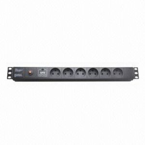 Power Distribution Units, Denmark Plug 6-Way Socket, 13A, 19-Inch Network Cabinet, Size 1u pictures & photos