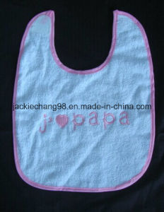 Embrodiery Papa Terry Baby Bib pictures & photos