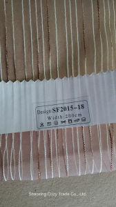 New Fashion Project Stripe Organza Sheer Curtain Fabric 201518 pictures & photos