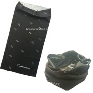 Factory OEM Produce Customized Design Printed Microfiber Seamless Black Neck Tube Warmer pictures & photos