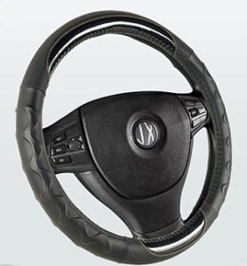 PVC with PU Steering Wheel Cover (BT7241D) pictures & photos