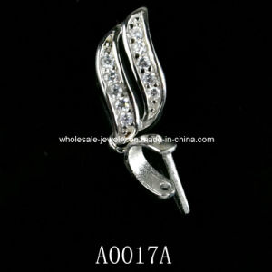 Silver Pendant Clasp, Silver Jewelry, Custom Jewelry Clasp (A0017A)