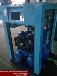 Electric Belt Driven Screw Air Compressor with Air Tank pictures & photos
