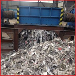 Double Shafts Waste Cloth/Plastic Bottles/Woven Bags Crusher pictures & photos