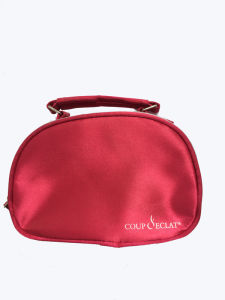 Satin Lady Red Cosmetic Bag with Handle