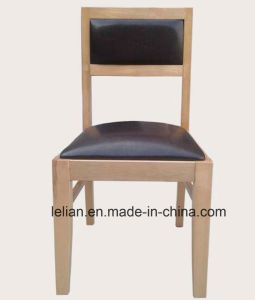 Solid Wood Frame Leather Uphystery Restaurant Dining Chairs pictures & photos