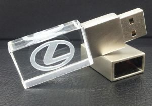 High Quality Promotional Acrylic USB Flash Drive Hot Thumb Drive with 3D Customized Logo pictures & photos