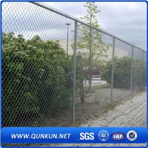 Galvanized and PVC Coated Security Chain Link Mesh Fence on Sale pictures & photos