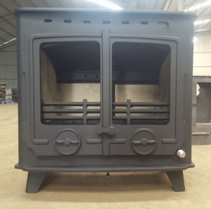 Cast Iron Wood Burning Double Door Steel Stove