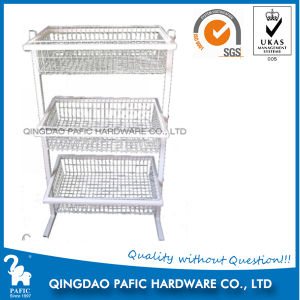 Stainless Steel Movable Display Rack in Supermarket pictures & photos