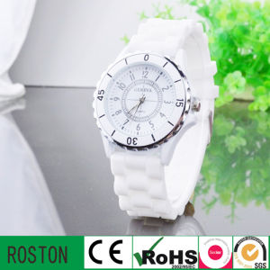 Fashion Ladies OEM Silicon Diamond Watch pictures & photos
