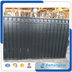 Welded Galvanized Black Powder Coating Wrought Iron Fence /Steel Garden Fencing with Iron Panels pictures & photos