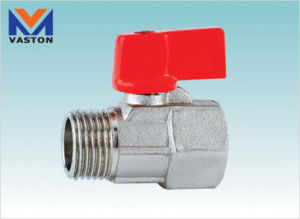 "Brass or Zinc Mini Ball Valve, 1/2"" (VT-6206) pictures & photos"