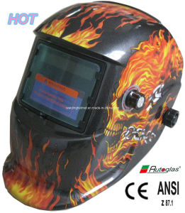 Flame GOST/CE/ANSI, En379/9-13 Auto-Darkening Welding Helmet(E1190TF pictures & photos