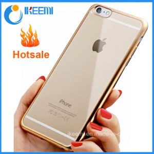 Ultra Thin Crystal Plated TPU Cover Cases for iPhone 6 Case pictures & photos