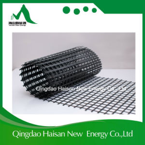 Anti-Corrosion Road Works Construction Materials 25kn/M Fiberglass Geogrid pictures & photos