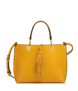 Pure Color Tote Bag Stitching Shoulder Bag with Tassel pictures & photos