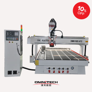 Omni 1325 Button Atc CNC Router with 4.5kw/9kw Hsd Aircooling Spindle