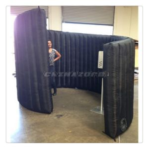 Curved Design Black Color Inflatable Photo Booth Inflatable Wall