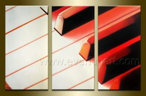 Handmade Piano Abstract Painting on Canvas pictures & photos