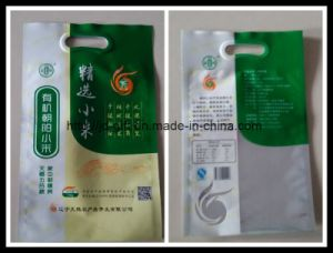 Custom Printed Plastic Handle Packing Bag for Rice pictures & photos