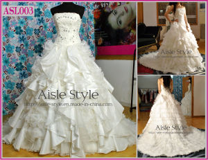 Luxury Elegant Beading Wedding Dresses/Wedding Gown/Bride Dress (ASL003)