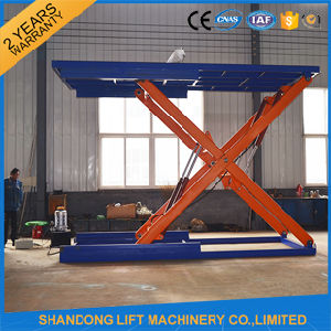 Hydraulic Floor Scissor Car Lift Platform for Home Garage or Parking pictures & photos