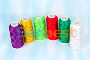 Beautiful Colors Polyester Embroidery Thread with Lubrication pictures & photos