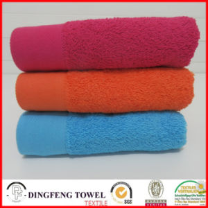 100% Cotton Multicolored Satin Border Gift Towel Sets pictures & photos