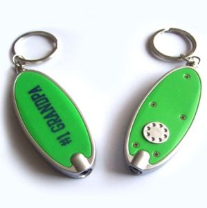 Oval LED Flashing Key Chain with Logo Printed pictures & photos