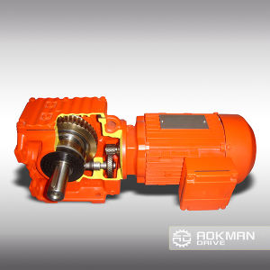 CE Approved K Series Helical Bevel Gearbox pictures & photos