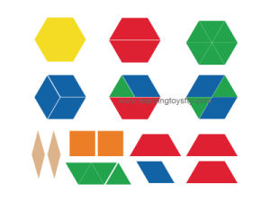 Plastic Pattern Blocks for Fraction Learning (K003) pictures & photos