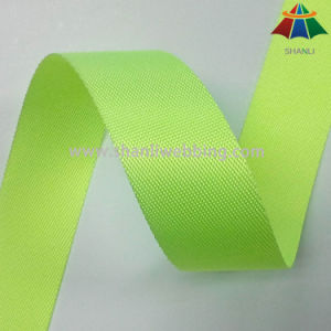 38mm Fluorescent Yellow Twill Nylon Webbing pictures & photos