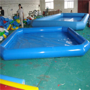 Family Inflatable Pool in Summer