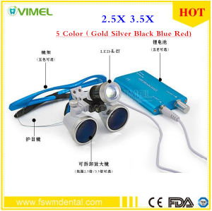 Medical Loupe Dental Magnifier with LED Light 3.5X 2.5X pictures & photos