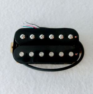 AlNiCo 2 Black Humbucker Guitar Pickup Wax Potted for Electric Guitar pictures & photos