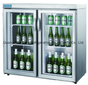 Hinged Triple Door Beer Cooler Commercial Back Bar Refrigerator pictures & photos