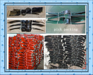 Pickaxe Roll Forging Steel Pick for Farming and Garden P415 pictures & photos