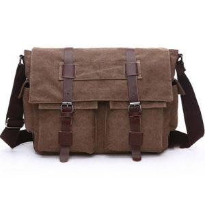 Hot Selling Customized Cotton Canvas Messenger Bag Shoulder Bag Men Sy7854 pictures & photos
