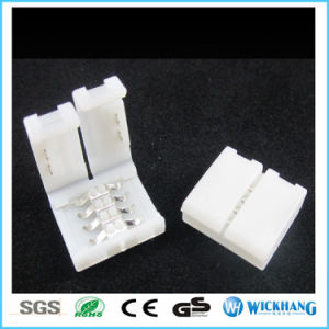 Solderless Clip-on Coupler Connector 4pin RGB for 5050 LED Strip Light pictures & photos